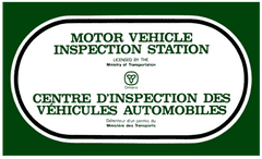 Certified by the Motor Vehicle Inspection Station